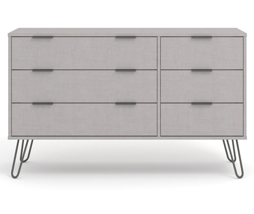 Core Products AGG533 Augusta Grey 3+3 Drawer Wide Chest of Drawers - Insta Living