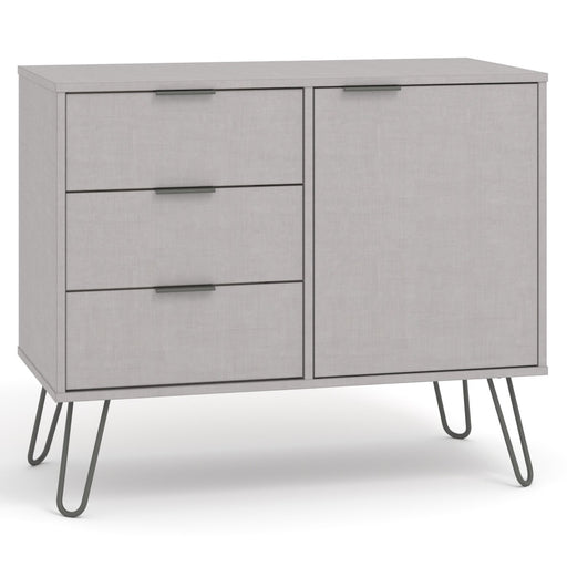 Core Products AGG915 Augusta Grey Small Sideboard with 1 Doors, 3 Drawers - Insta Living
