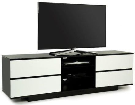 "MDA Designs Avitus Black and White TV Cabinet for up to 65"" Screens - Insta Living"