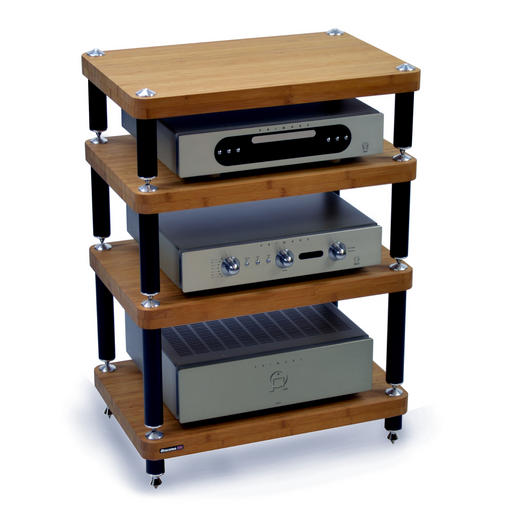 Atacama Evoque Eco 60-40 Dark Bamboo Finish HiFi Stand - Insta Living
