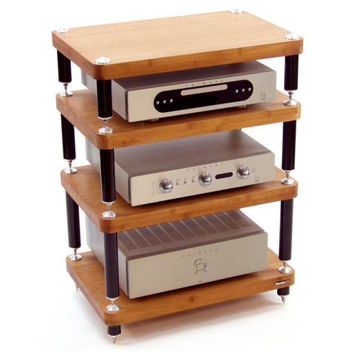 Atacama Evoque Eco 60-40 Medium Bamboo Finish HiFi Stand - Insta Living