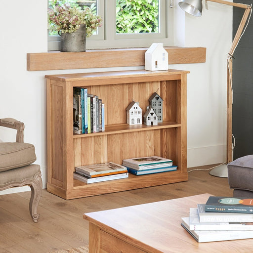 Baumhaus Mobel Oak COR01B Low Bookcase - Insta Living