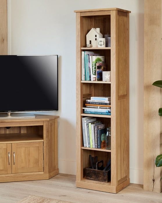 Baumhaus Mobel Oak COR01D Narrow Bookcase - Insta Living