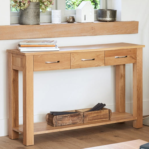 Baumhaus Mobel Oak COR02C Console Table - Insta Living