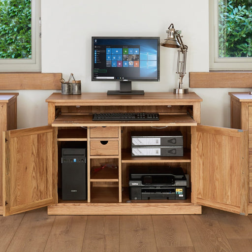 Baumhaus Mobel Oak COR06A Hidden Home Office - Insta Living