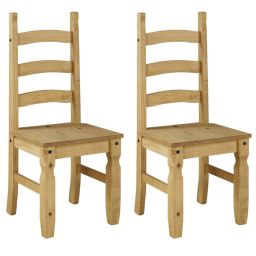 Core Products CR105 Corona Solid Pine Dining Chairs (Pair) - Insta Living