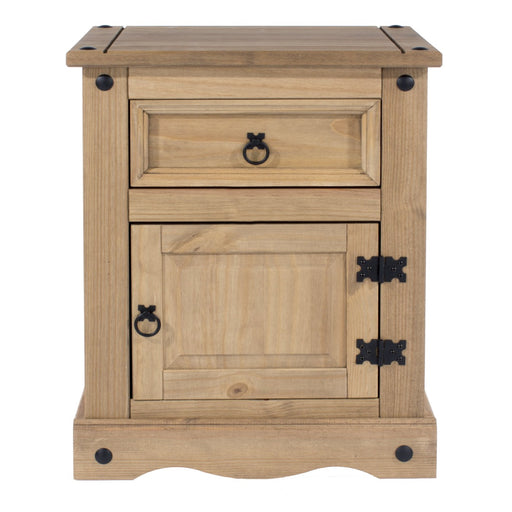 Core Products CR510 Corona 1 Door, 1 Drawer Bedside Cabinet