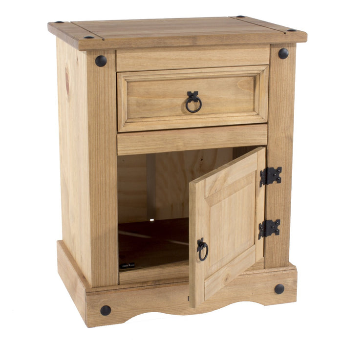 Core Products CR510 Corona 1 Door, 1 Drawer Bedside Cabinet - Insta Living