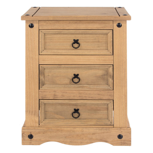 Core Products CR511 Corona 3 Drawer Bedside Cabinet