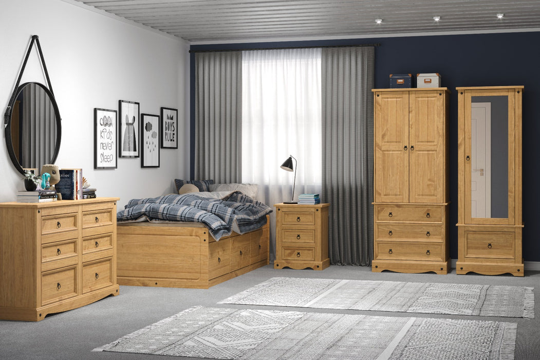Core Products CR523 Corona 2 Door, 3 Drawer Wardrobe - Insta Living