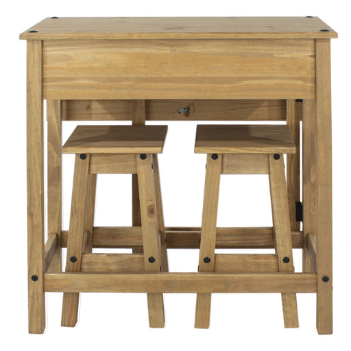 Core Products CRTBSET4 Breakfast Drop Leaf Table & 2 Stools Set
