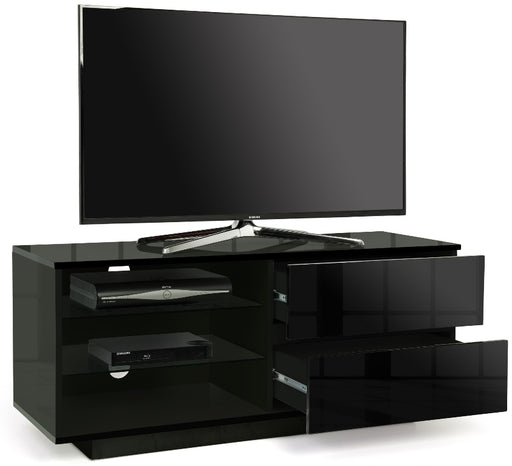 "MDA Designs Gallus Black TV Cabinet for up to 55"" Screens - Insta Living"