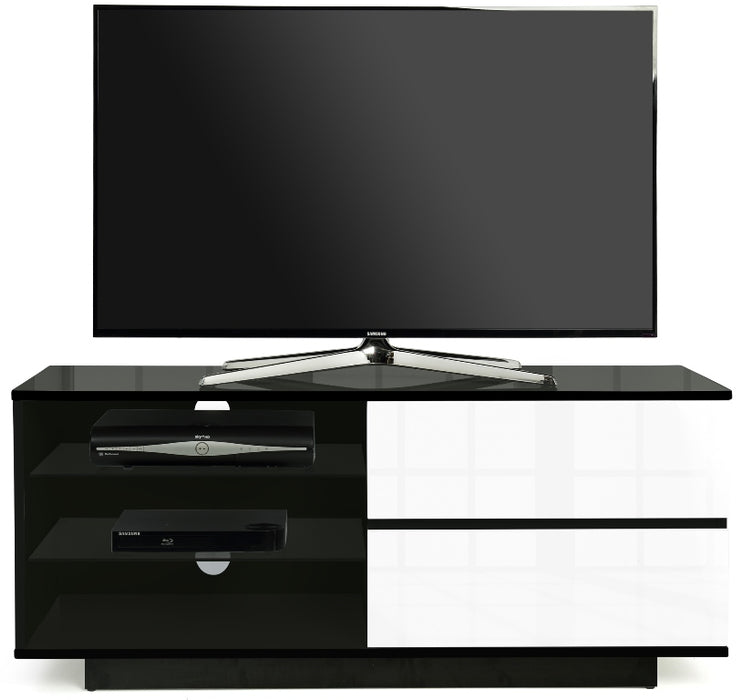 "MDA Designs Gallus Black and White TV Cabinet for up to 55"" Screens - Insta Living"