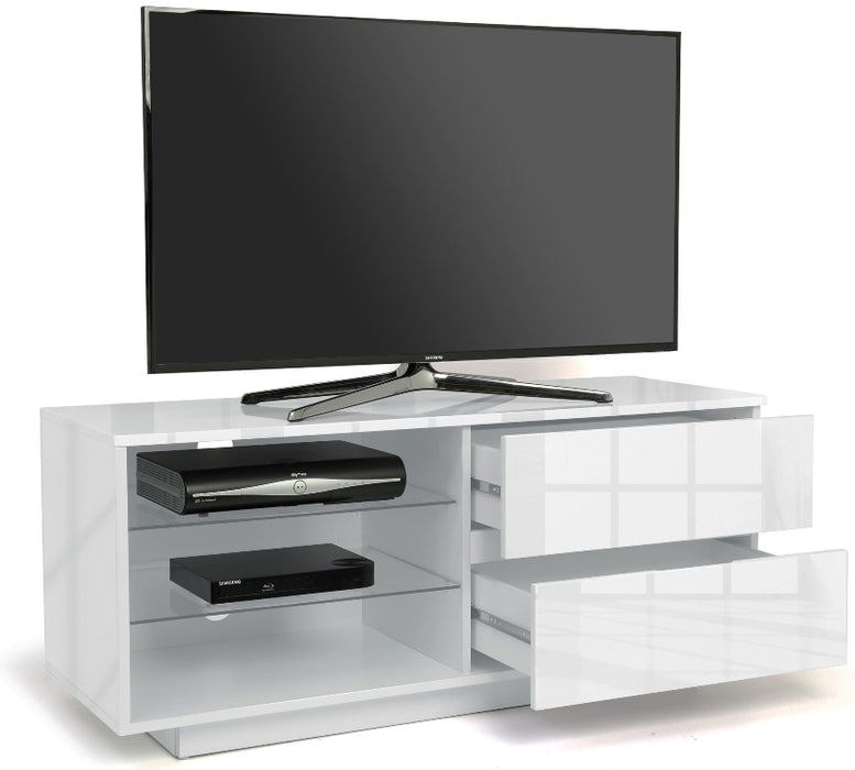 "MDA Designs Gallus White TV Cabinet for up to 55"" Screens - Insta Living"
