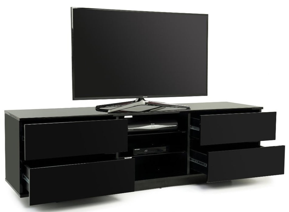"MDA Designs Avitus Black TV Cabinet for up to 65"" Screens - Insta Living"