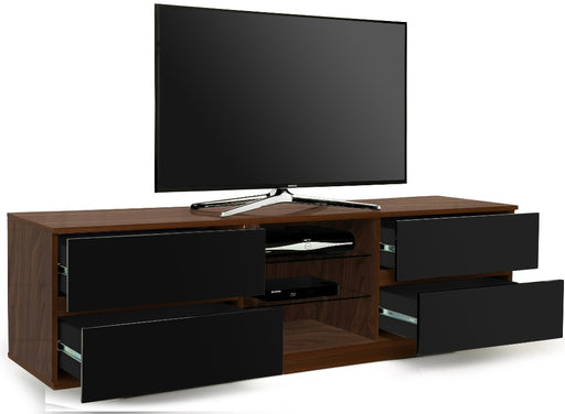 "MDA Designs Avitus Walnut and Black TV Cabinet for up to 65"" Screens - Insta Living"