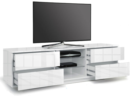 "MDA Designs Avitus White TV Cabinet for up to 65"" Screens - Insta Living"