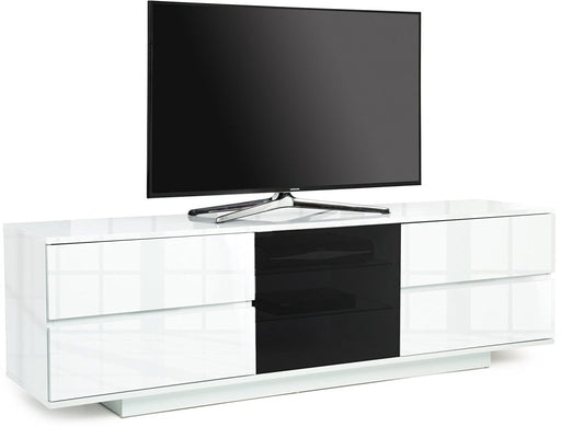 "MDA Designs Avitus White ULTRA TV Cabinet for up to 65"" Screens - Insta Living"