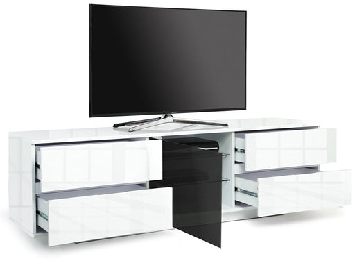 "MDA Designs Avitus Ultra White TV Cabinet for up to 65"" Screens - Insta Living"