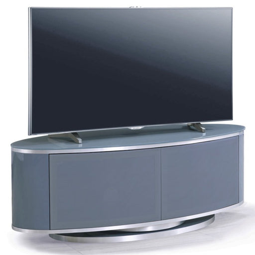 "MDA Designs Luna Grey Oval TV Cabinet for up to 55"" Screens - Insta Living"
