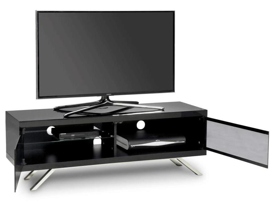 "MDA Designs Tucana 1200 Hybrid Black TV Cabinet for up to 60"" Screens - Insta Living"
