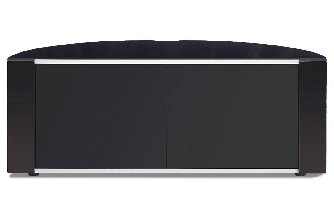 "MDA Designs Sirius 1200 Black TV Cabinet for up to 55"" Screens - Insta Living"