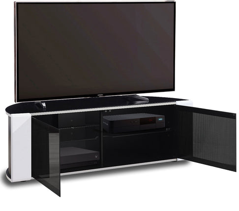 "MDA Designs Sirius 1200 Black and White TV Cabinet for up to 55"" Screens - Insta Living"