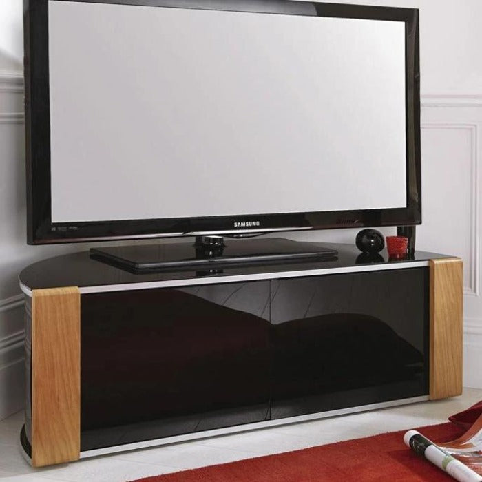 "MDA Designs Sirius 1200 Oak TV Cabinet for up to 55"" Screens - Insta Living"