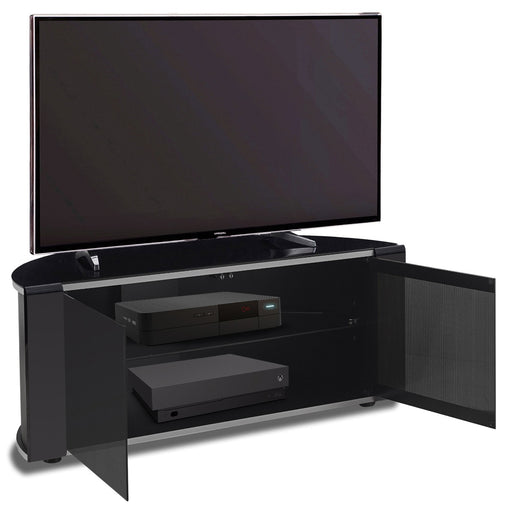 "MDA Designs Sirius 850 Black TV Cabinet for up to 40"" Screens - Insta Living"