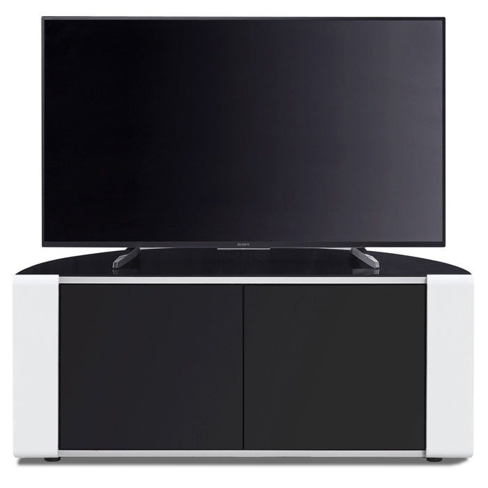 "MDA Designs Sirius 850 Black and White TV Cabinet for up to 40"" Screens - Insta Living"