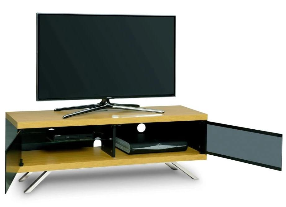 "MDA Designs Tucana 1200 Hybrid Oak TV Cabinet for up to 60"" Screens - Insta Living"
