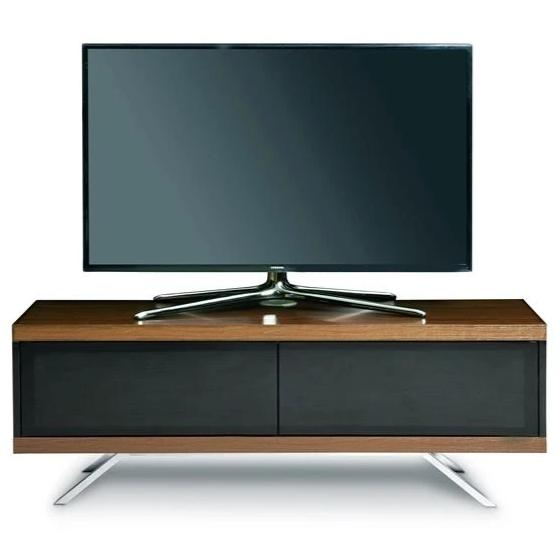 "MDA Designs Tucana 1200 Hybrid Walnut TV Cabinet for up to 60"" Screens - Insta Living"