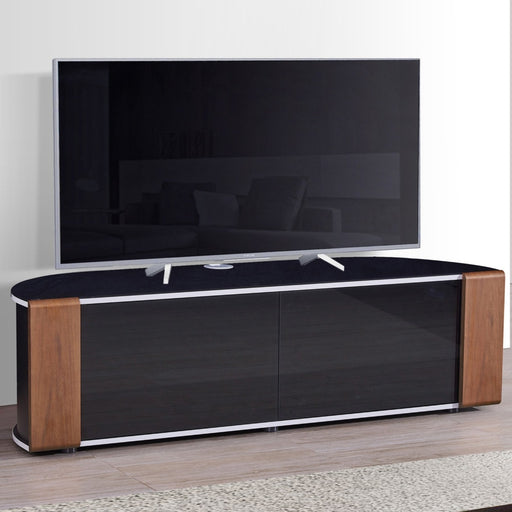 "MDA Designs Sirius 1600 Hybrid Walnut TV Cabinet for up to 65"" Screens - Insta Living"