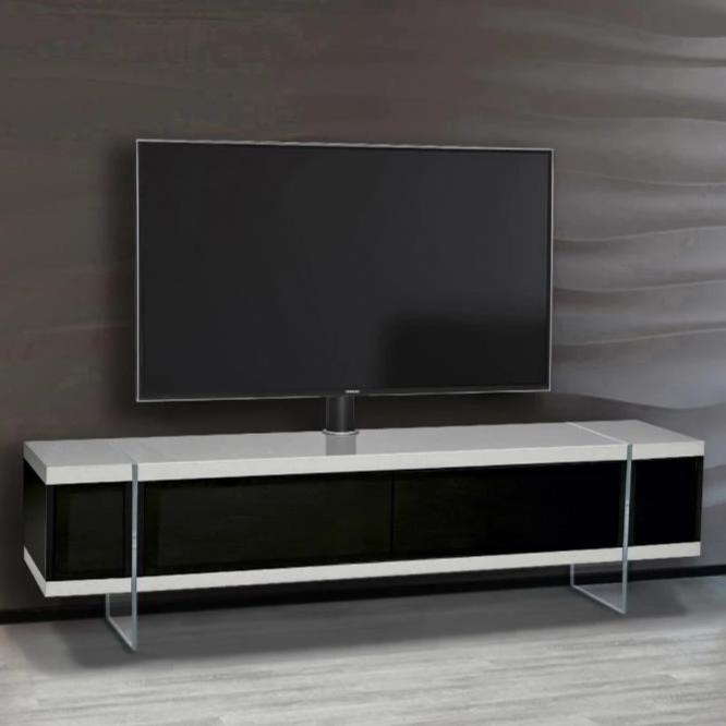 "MDA Designs Space 1600 Hybrid White TV Cabinet for up to 65"" Screens - Insta Living"