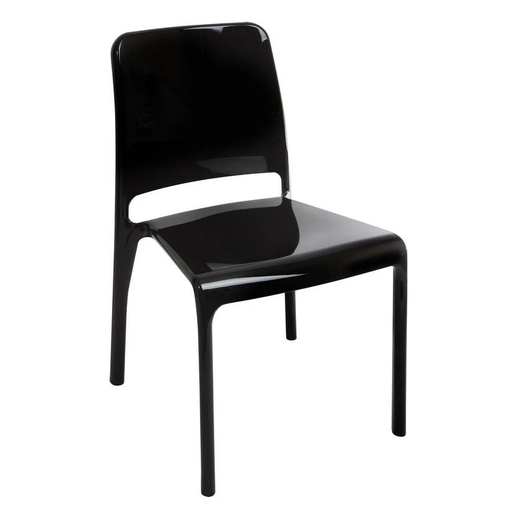 Teknik 6908BLK 4 x Clarity Stackable Black Chairs - Insta Living