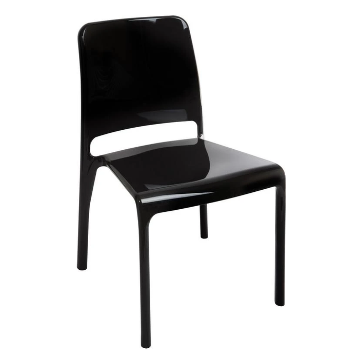 Teknik 4 x Clarity Stackable Black Chairs (6908BLK) - Insta Living