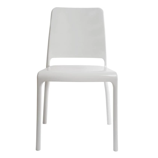 Teknik 4 x Clarity Stackable White Chairs (6908WHI) - Insta Living
