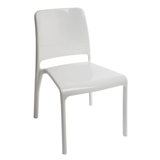 Teknik 6908WHI 4 x Clarity White Chairs - Insta Living