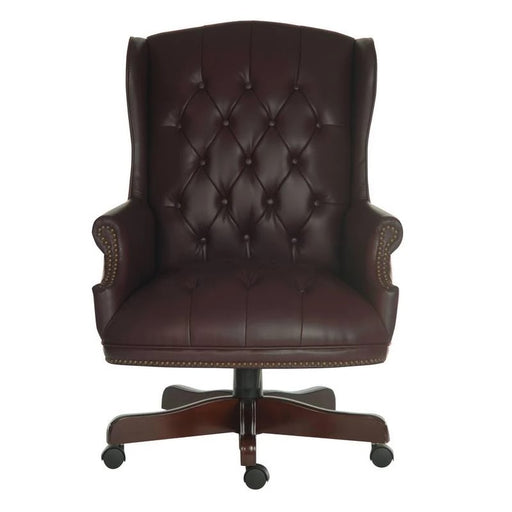 Teknik Chairman Burgundy Executive Chair (B800BU) - Insta Living