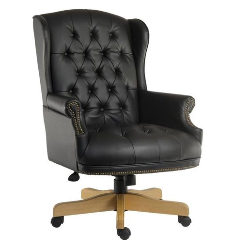 Teknik Chairman Noir Swivel Executive Chair (6927) - Insta Living
