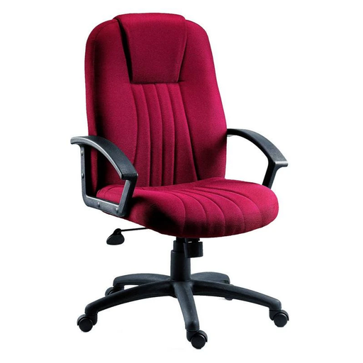 Teknik City Burgundy Fabric Executive Chair (8099BU) - Insta Living