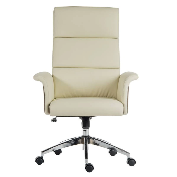 Teknik Elegance High Executive Chair in Cream (6950CRE) - Insta Living