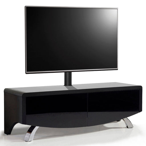 "MDA Designs Wave 1200 Hybrid Black TV Cabinet for up to 60"" Screens - Insta Living"