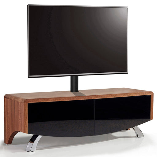 "MDA Designs Wave 1200 Hybrid Walnut TV Cabinet for up to 60"" Screens - Insta Living"