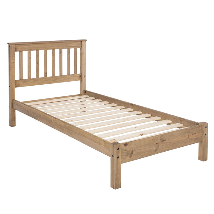 "Core Products WX300LE Pine 3'0"" Slatted Low End Bedstead"