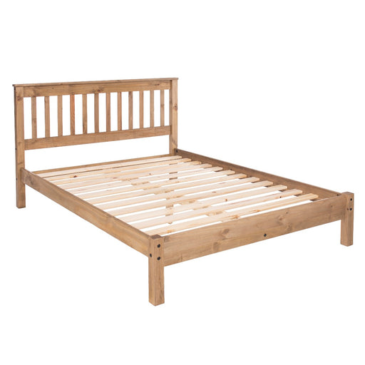 "Core Products WX460LE Pine 4'6"" Slatted Low End Bedstead"