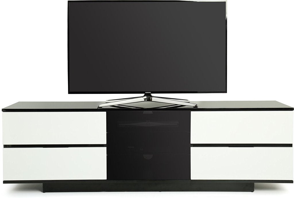 "MDA Designs Avitus Ultra Black TV Cabinet for up to 65"" Screens - Insta Living"