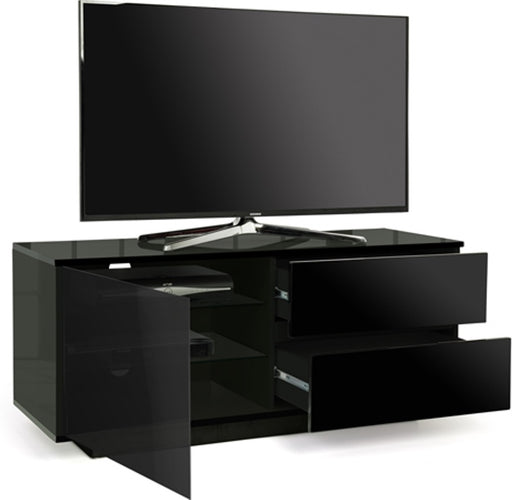 "MDA Designs Gallus Ultra Black TV Cabinet for up to 55"" Screens - Insta Living"