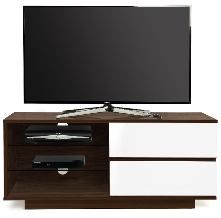 "MDA Designs Gallus Walnut and White TV Cabinet for up to 55"" Screens - Insta Living"
