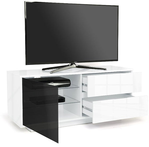 "MDA Designs Gallus Ultra White TV Cabinet for up to 55"" Screens - Insta Living"